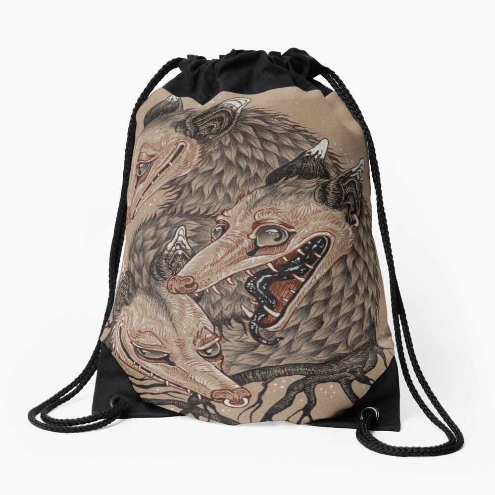 Mouths to Feed Drawstring Bag