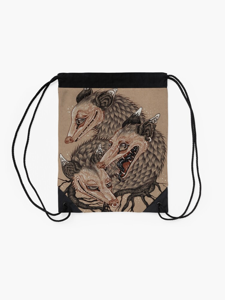 Alternate view of Mouths to Feed Drawstring Bag