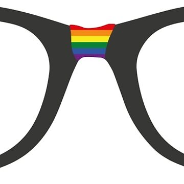 Gay Hipster Flag Glasses by lezcopines
