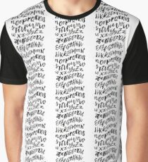 Hand Drawn Typography Graphic T-Shirt