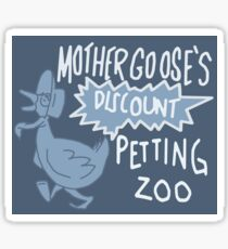 Mother Goose's Discount Petting Zoo Sticker