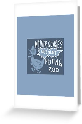 mother gooses discount petting zoo by cointreat - Discount Greeting Cards