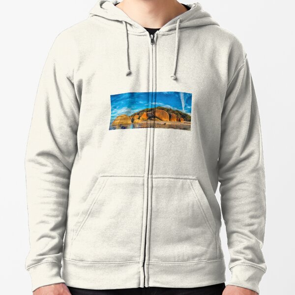 Squeaky Beach Panorama Zipped Hoodie