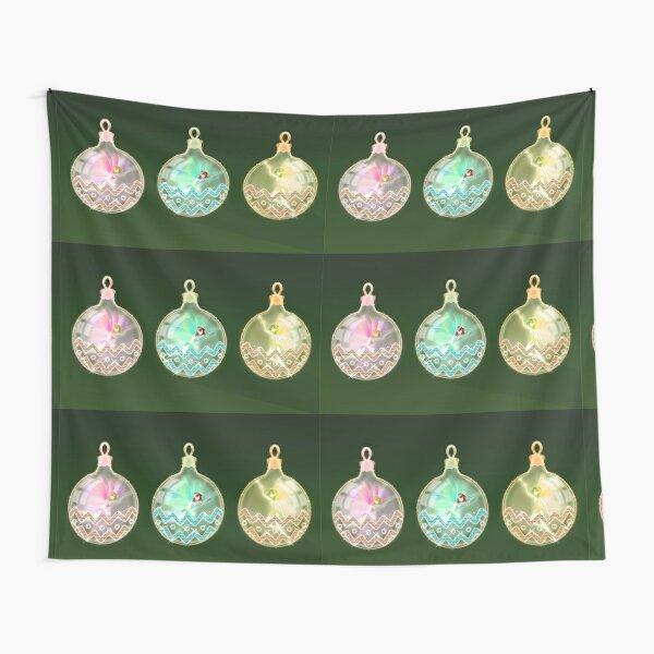 Christmas balls rainbow fairies Tapestry
