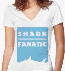 Shark fanatic Women's Fitted V-Neck T-Shirt