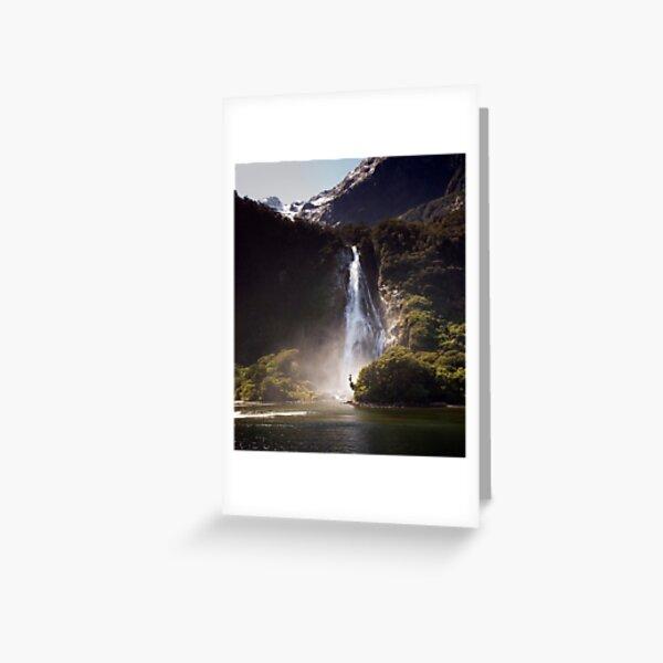 Bowen Falls, Milford Sound Greeting Card