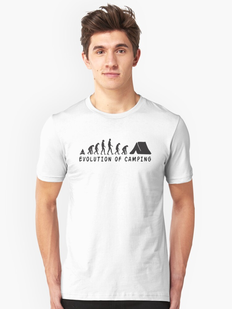 Camping Evolution Unisex T-Shirt Front
