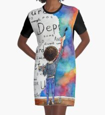 Always Keep Fighting Watercolor Painting (2015) REVAMP Graphic T-Shirt Dress