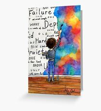 Sick greeting cards redbubble always keep fighting watercolor painting 2015 revamp greeting card m4hsunfo