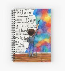 Always Keep Fighting Watercolor Painting (2015) REVAMP Spiral Notebook