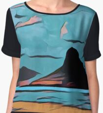 Abstract landscape,digital art,contemporary art,colorful Chiffon Top