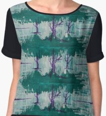 Trees into Forests-Acrylic Women's Chiffon Top
