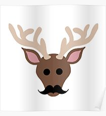 Hipster Reindeer: Posters | Redbubble