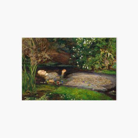 Ophelia Painting by John Everett Millais  Art Board Print