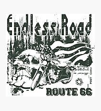 Endless Road - Motorcycle Sticker Photographic Print