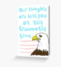 Condolence: Awkward Eagle Greeting Card
