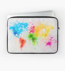 world map painting Laptop Sleeve