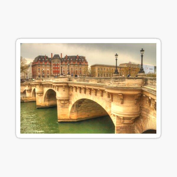 Pont Neuf & a beautiful Paris building Sticker