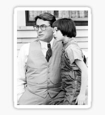 Atticus Finch and Scout Sticker