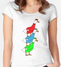 Another Quality Duck Stack- without words! Women's Fitted Scoop T-Shirt