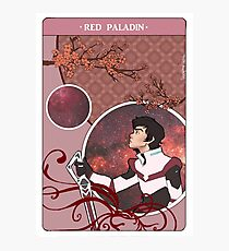 Red Paladin Photographic Print