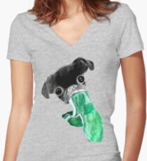 Griff Be Gruff Women's Fitted V-Neck T-Shirt