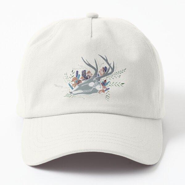 Crystal Deer Skull Dad Hat
