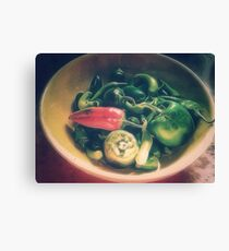 Still life with hot peppers Canvas Print