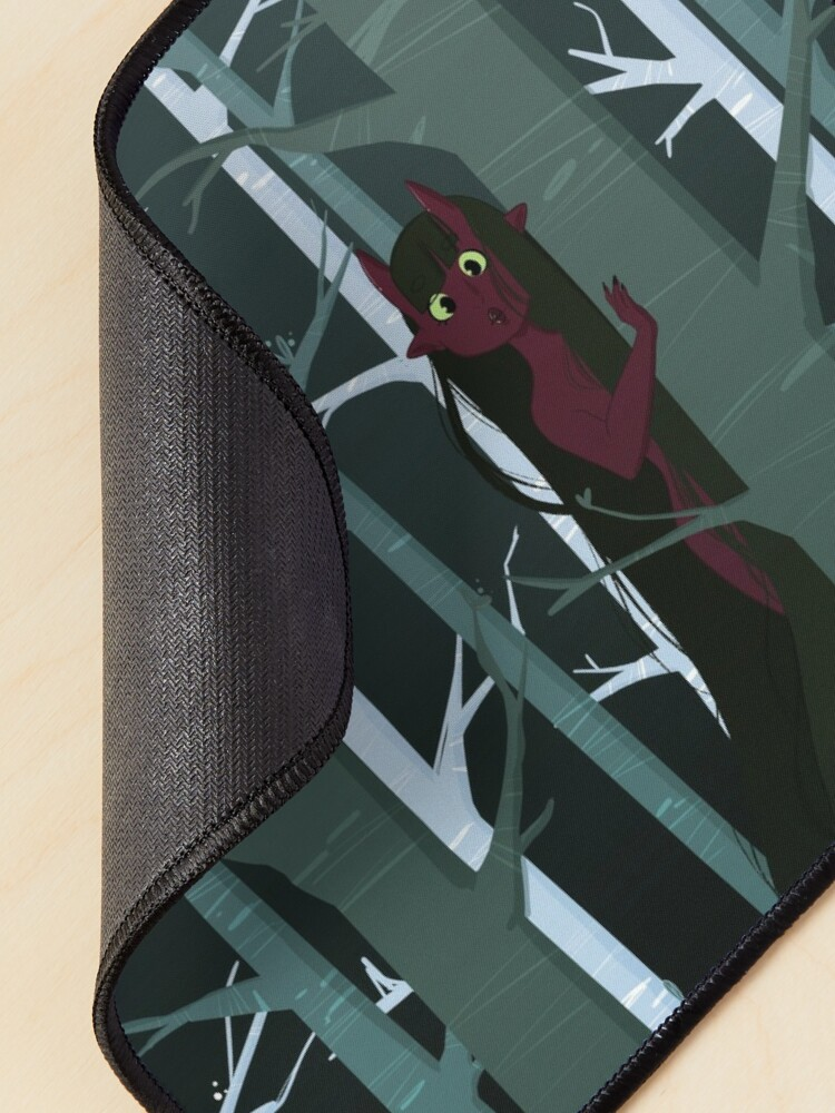 Alternate view of Curious Tiefling Mouse Pad