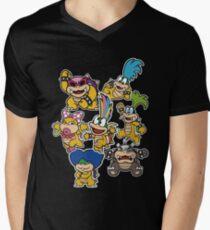 Camiseta para hombre de cuello en v Koopalings - Paper Mario: Color Splash