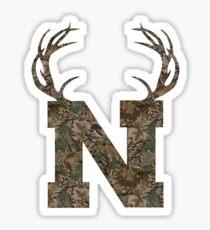 Nebraska Hunting Club Big Deer Rack Camouflage Pride Sticker
