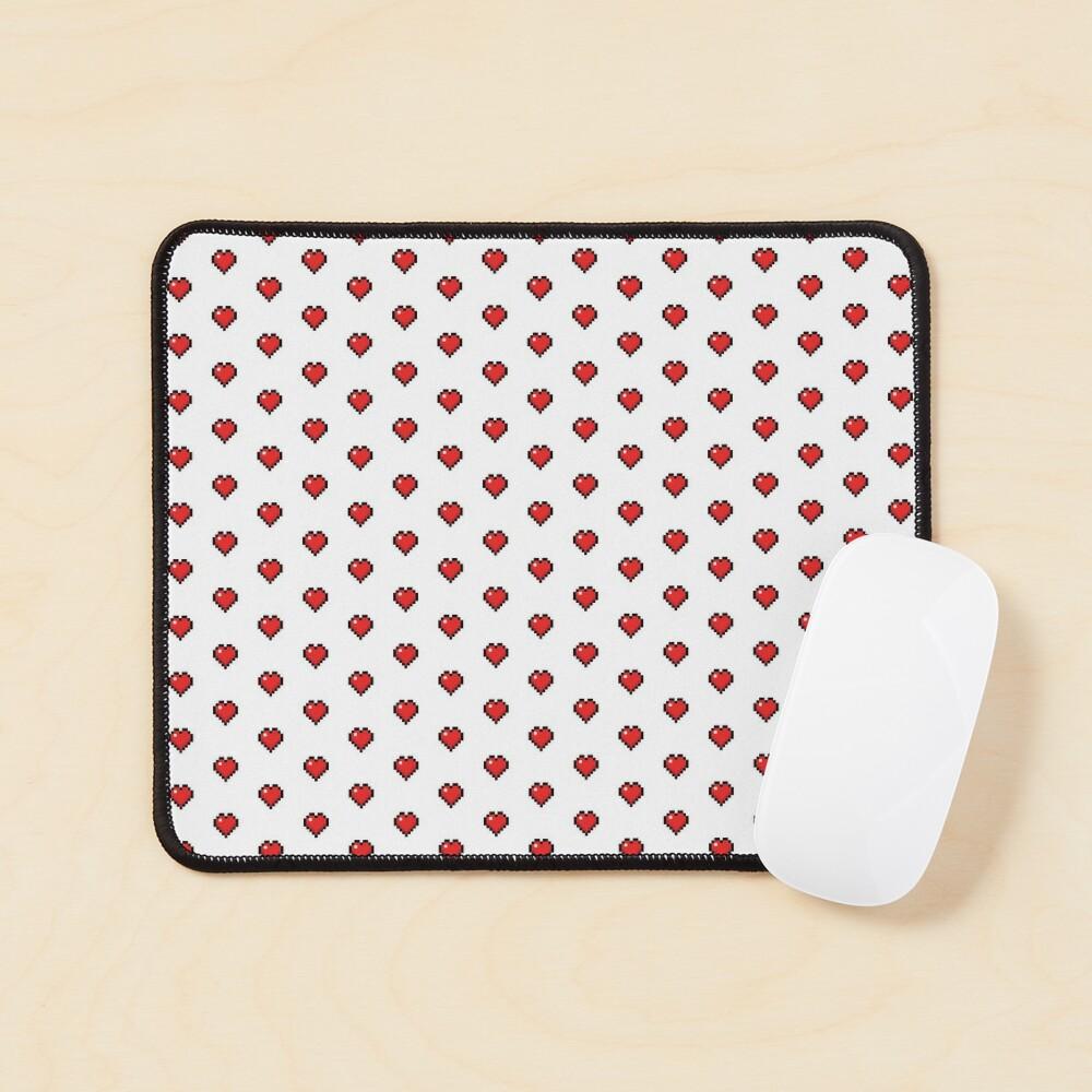Cute Retro Gaming Hearts Mouse Pad