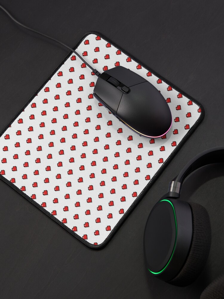 Alternate view of Cute Retro Gaming Hearts Mouse Pad