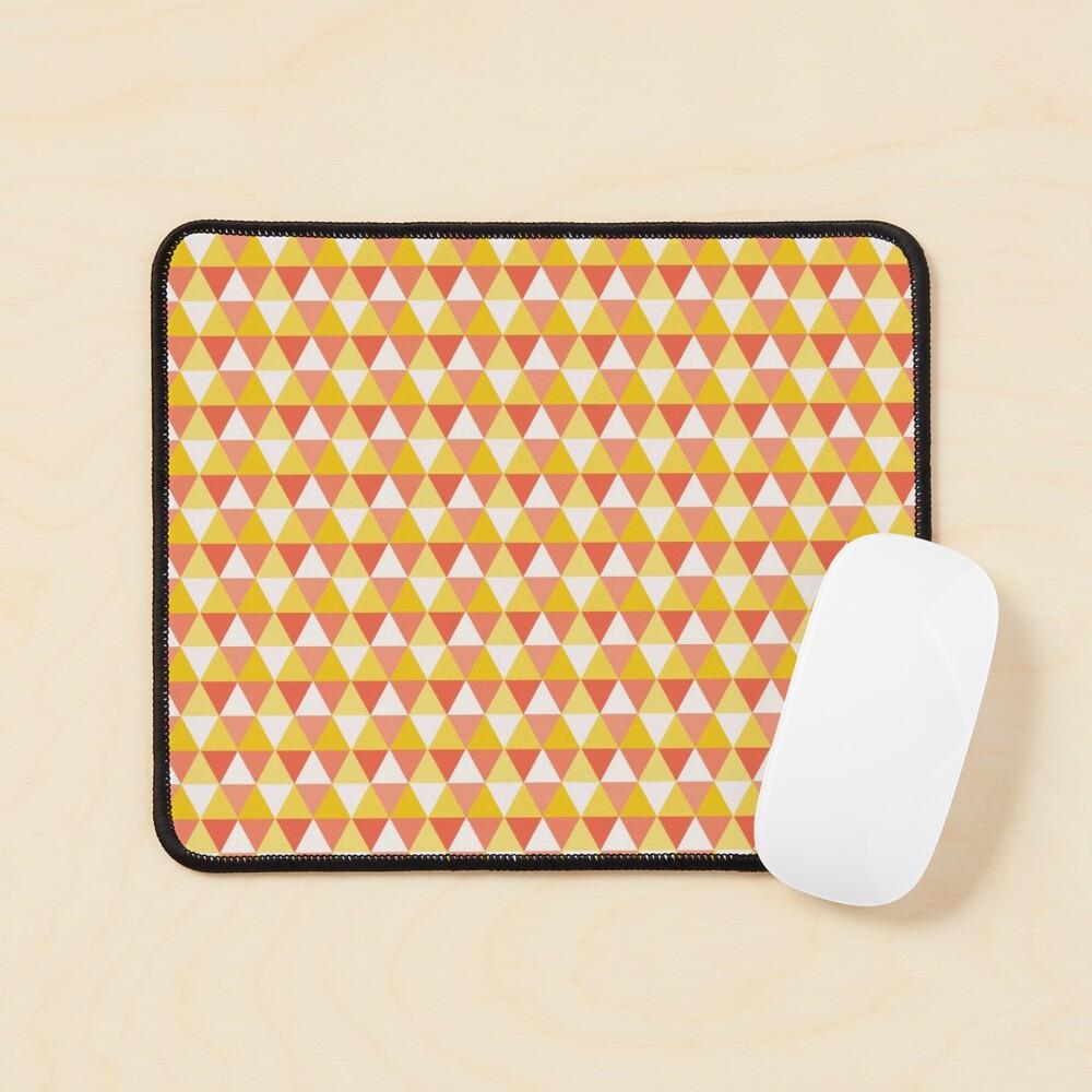 Orange Cute Triangle Pattern for Leggins Cases etc Mouse Pad