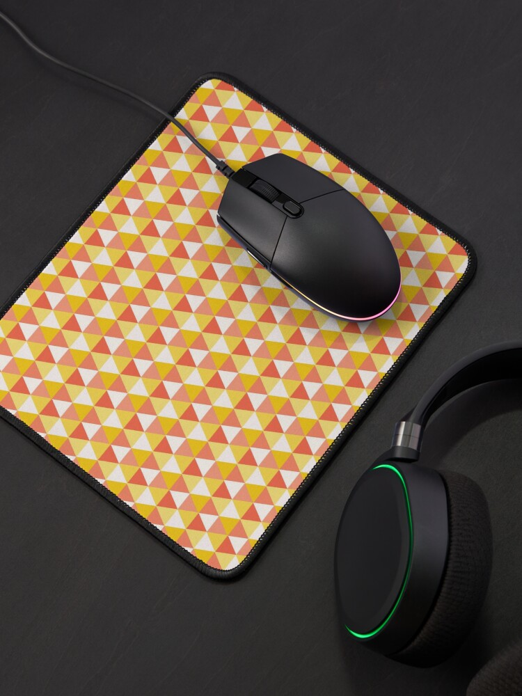 Alternate view of Orange Cute Triangle Pattern for Leggins Cases etc Mouse Pad