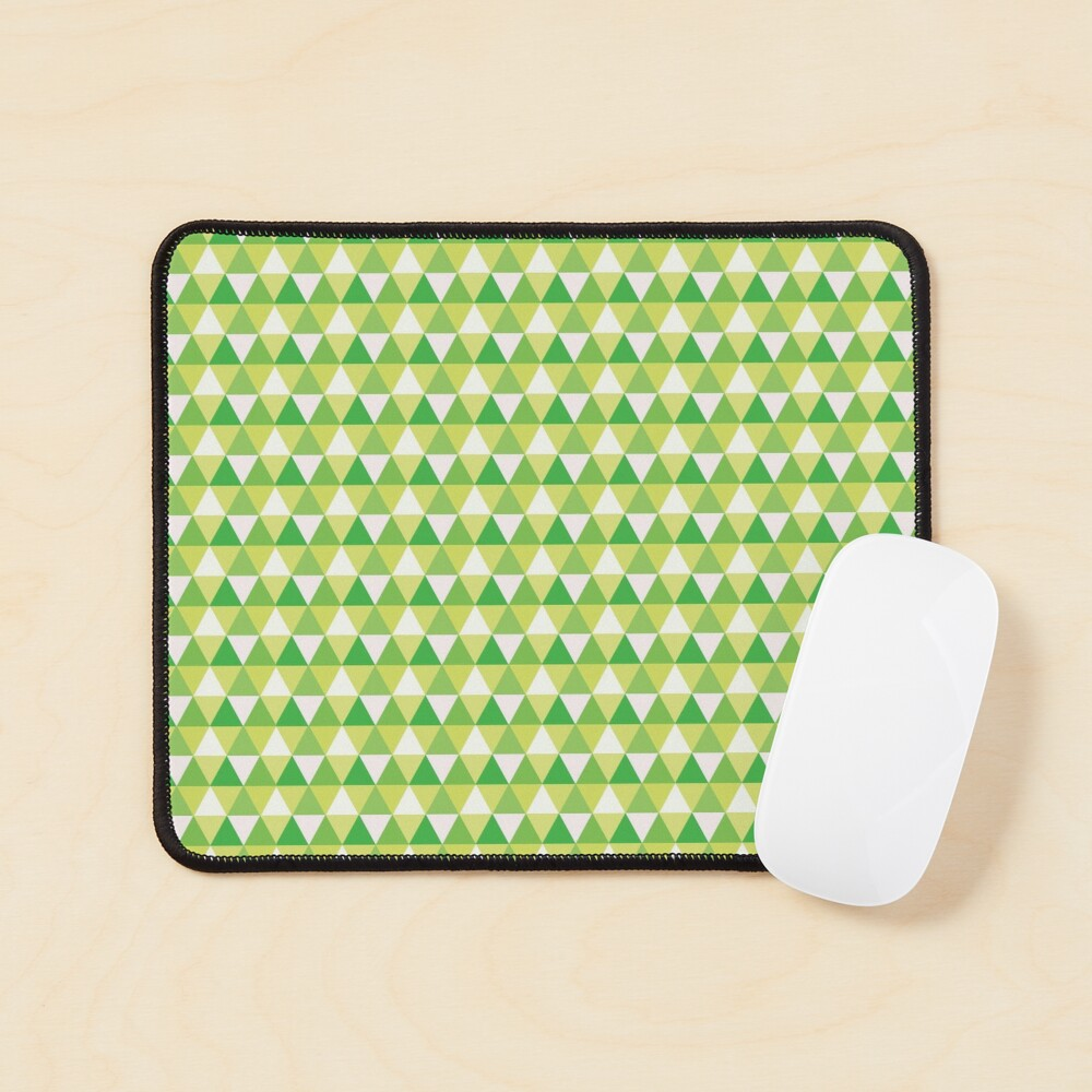 Green Triangle Abstract Pattern Mouse Pad