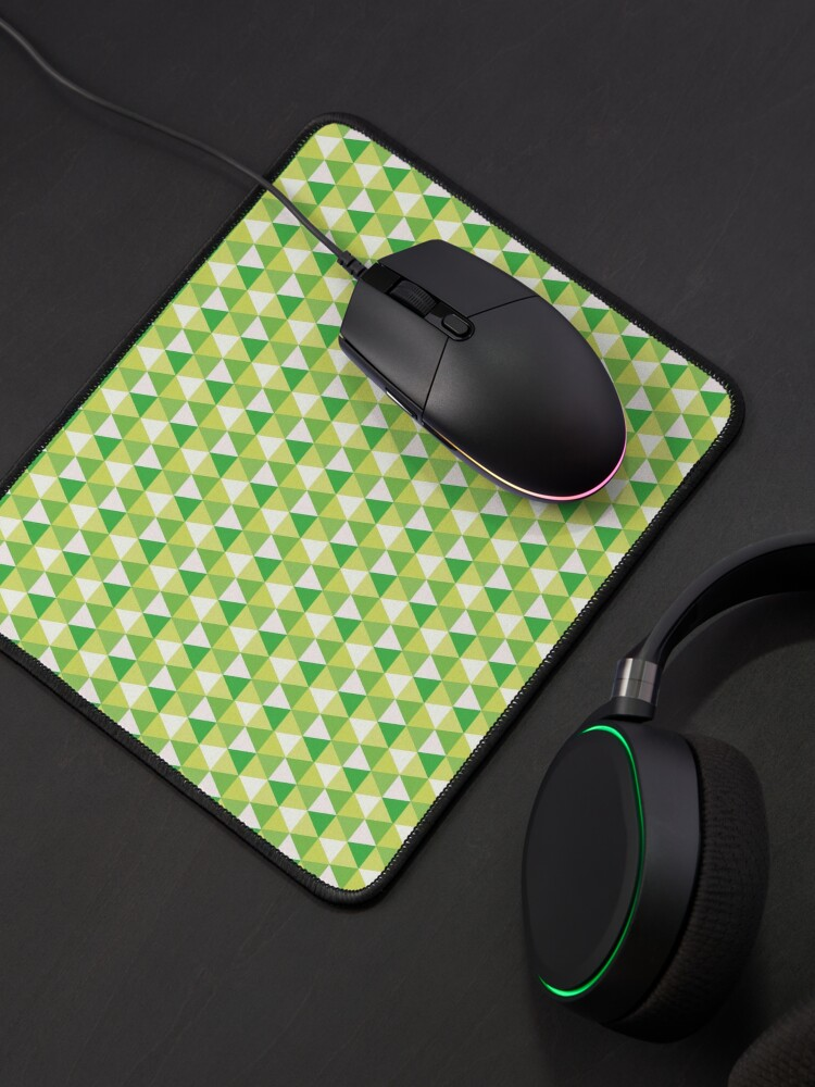 Alternate view of Green Triangle Abstract Pattern Mouse Pad