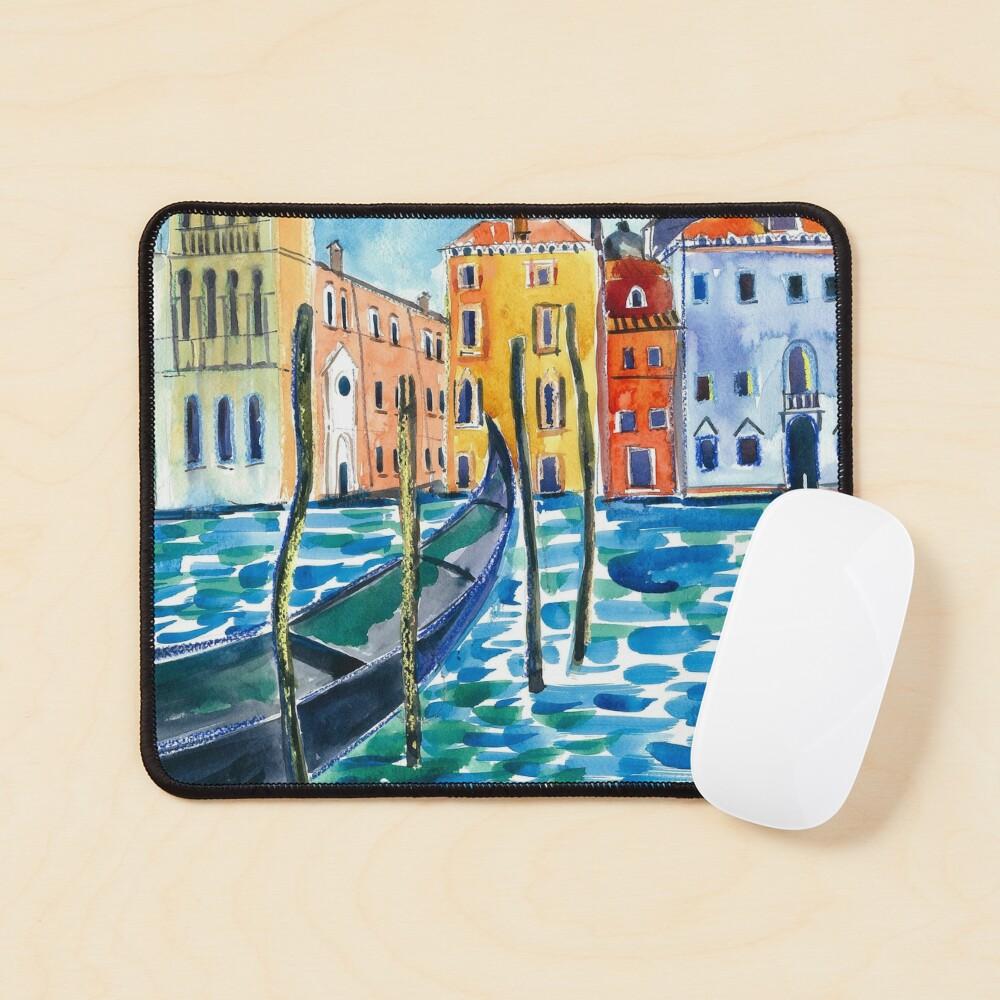 Venice - Original watercolour landscape by Francesca Whetnall Mouse Pad