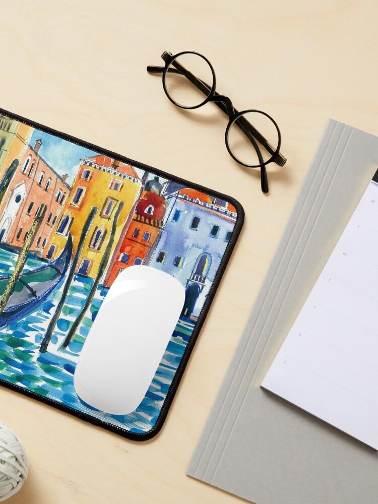 Alternate view of Venice - Original watercolour landscape by Francesca Whetnall Mouse Pad