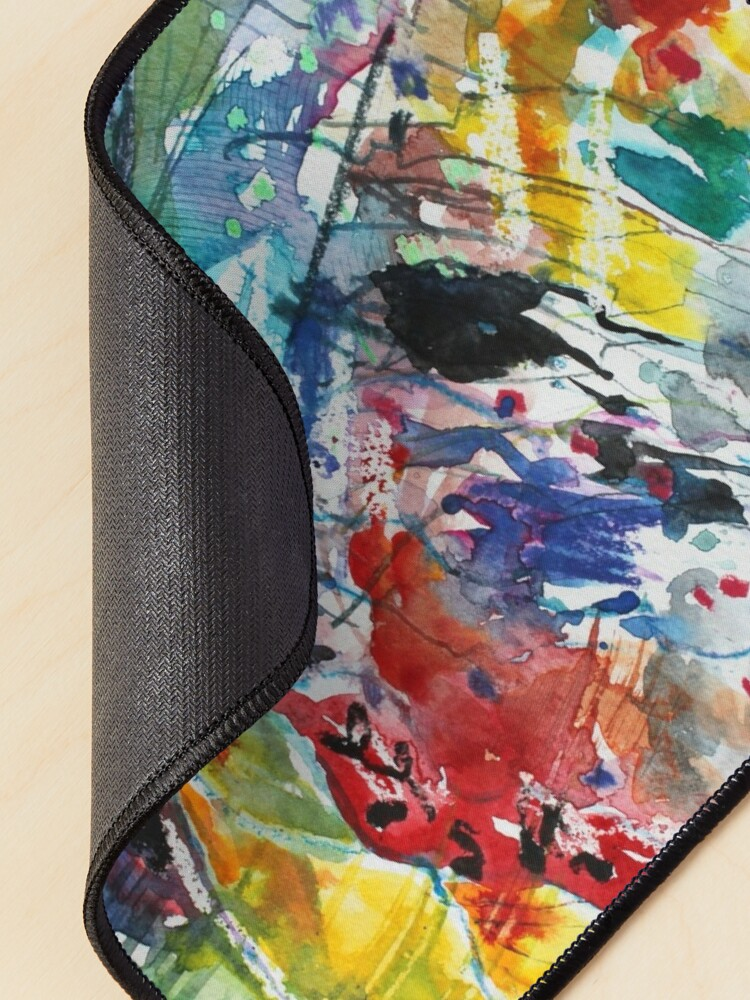 Alternate view of Rainbow landscape  - Original abstract watercolour by Francesca Whetnall Mouse Pad