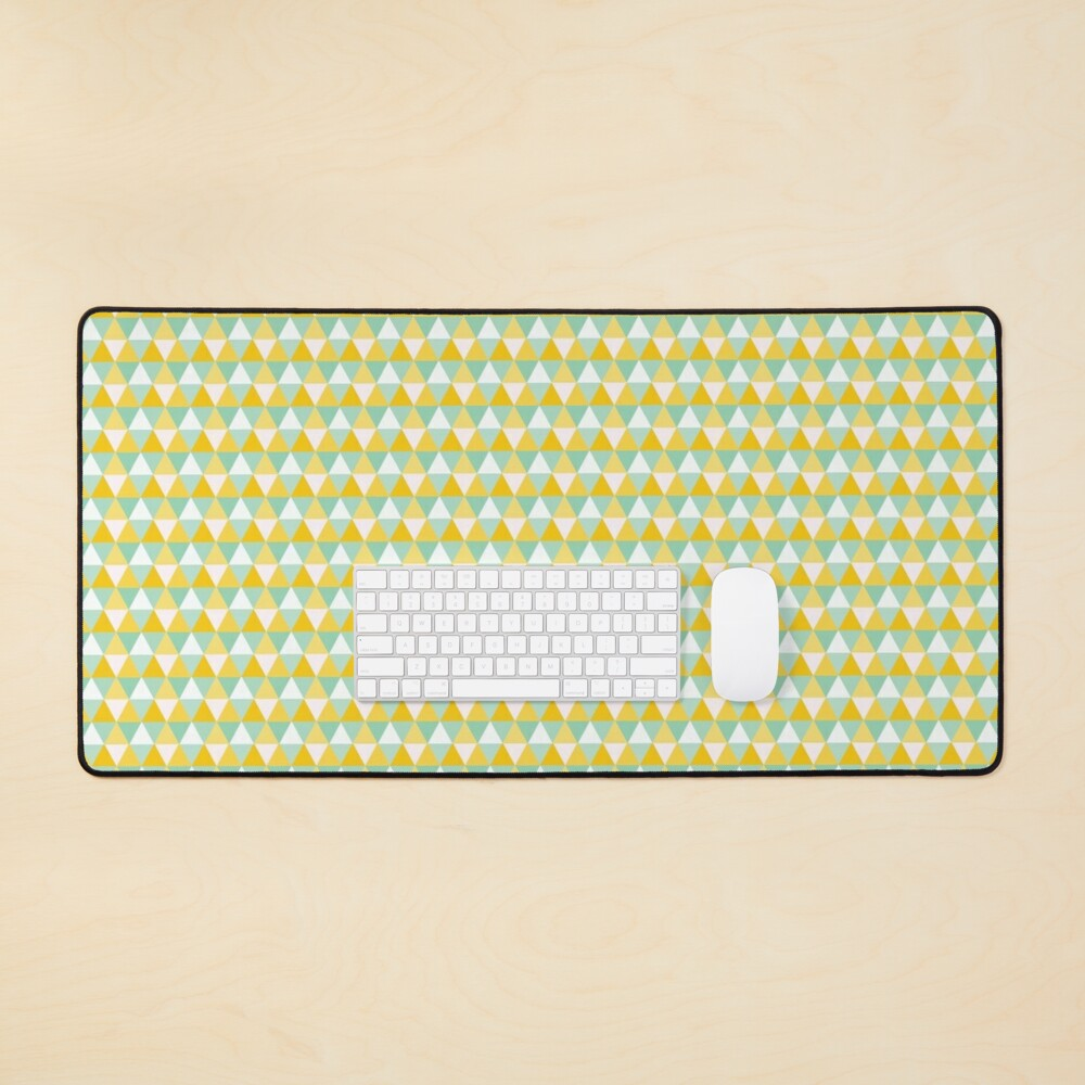 Colourful Yellow Triangles Pattern Mouse Pad