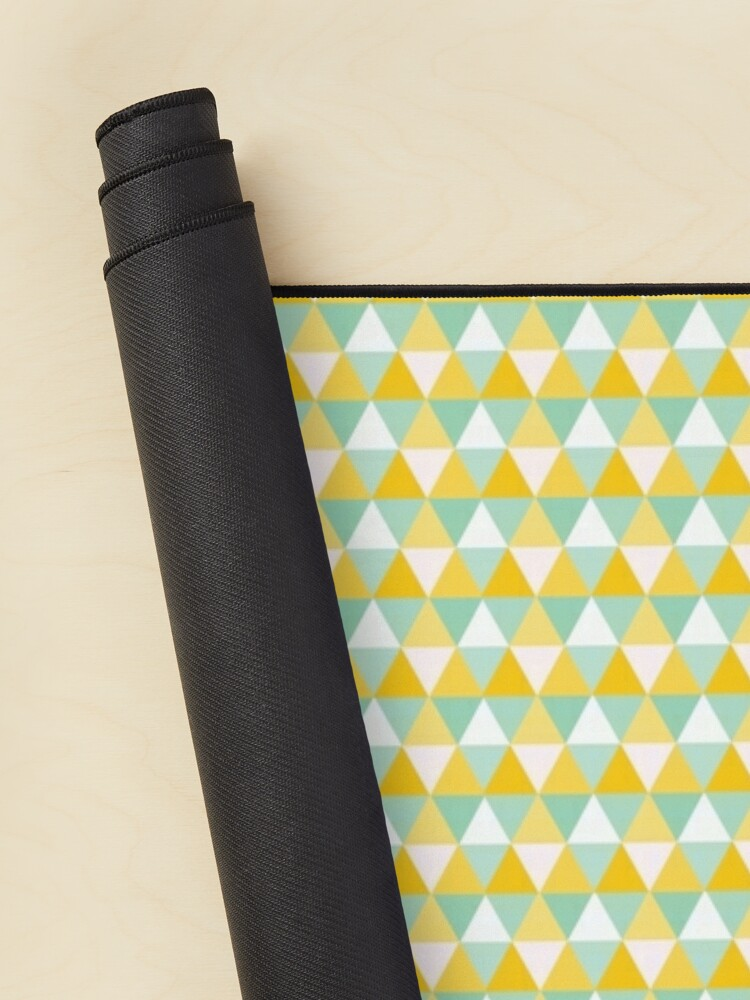 Alternate view of Colourful Yellow Triangles Pattern Mouse Pad