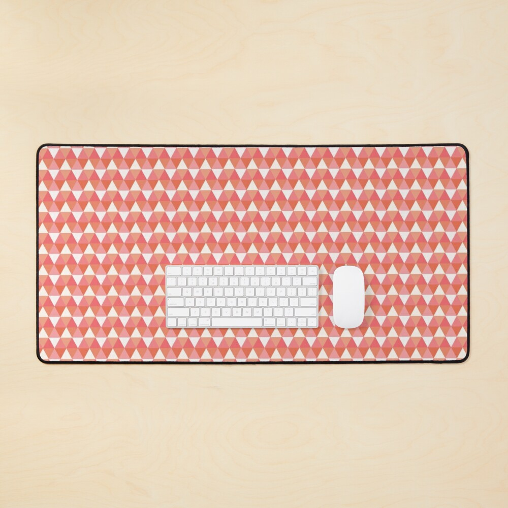 Colorful Pink Triangle Pattern Mouse Pad
