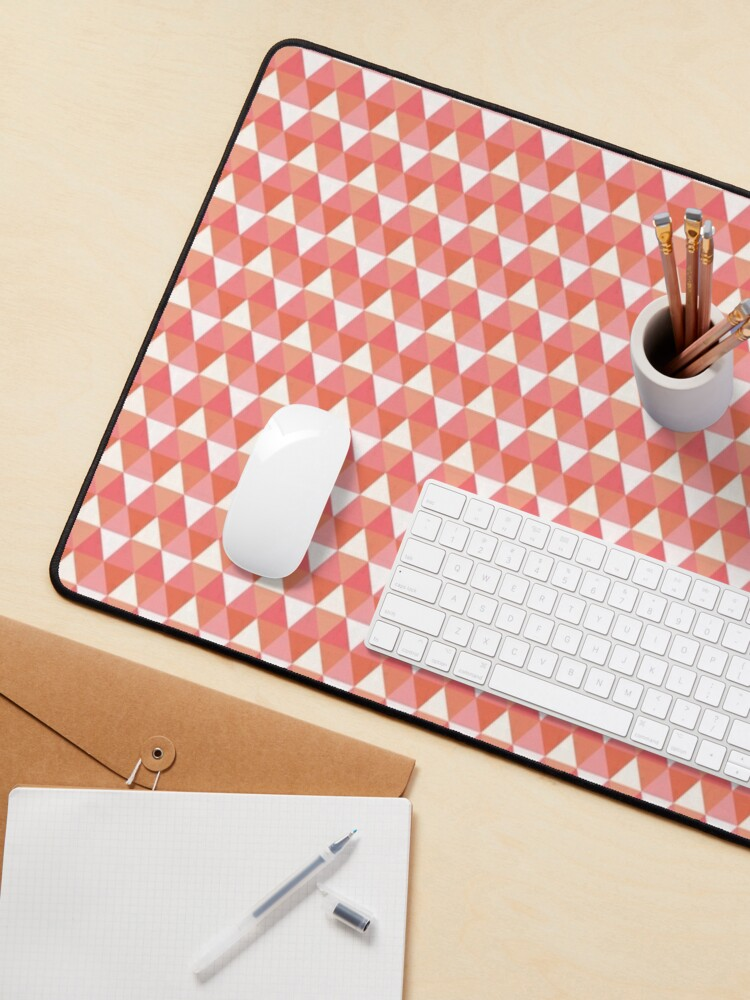 Alternate view of Colorful Pink Triangle Pattern Mouse Pad