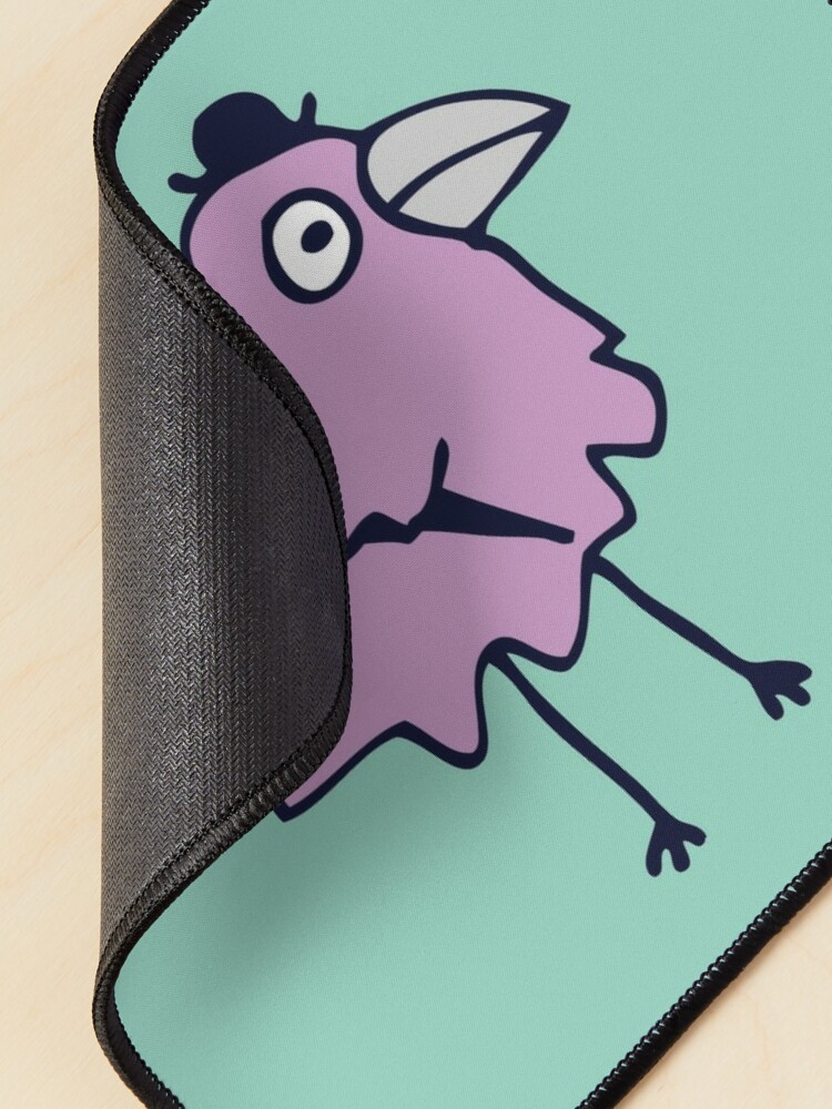 Alternate view of Business Bird - Lilac on Mint green - cute bird pattern by Cecca Designs Mouse Pad
