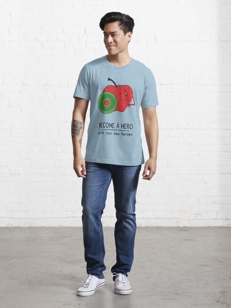 Alternate view of Captain Apple Essential T-Shirt