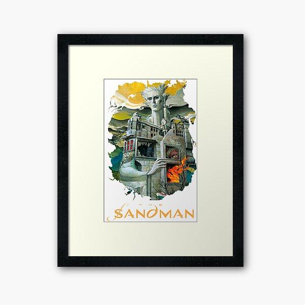 the Sandman house morpheus dream   Framed Art Print