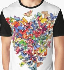 butterfly heart Graphic T-Shirt