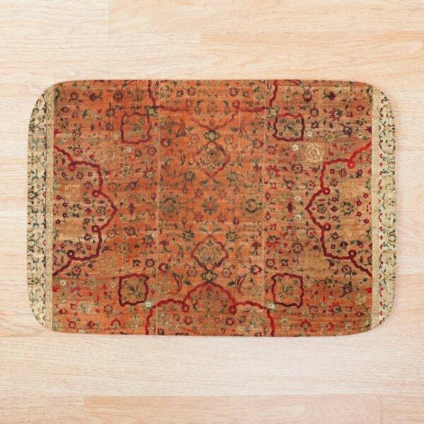 17th Century Velvet and Silk Carpet Print Bath Mat