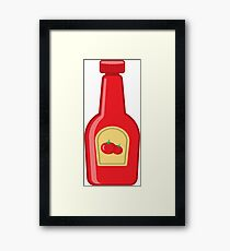 Ketchup Bottle Framed Print